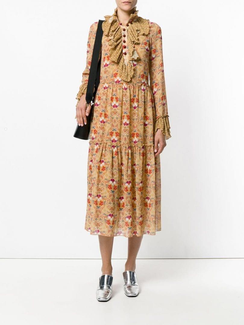 See By ChloÉ Patterned Orange Flprinted Dress