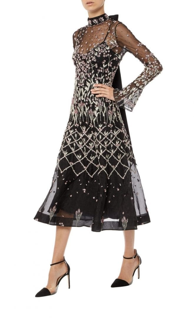 Temperley London Glen Black Mix Dress
