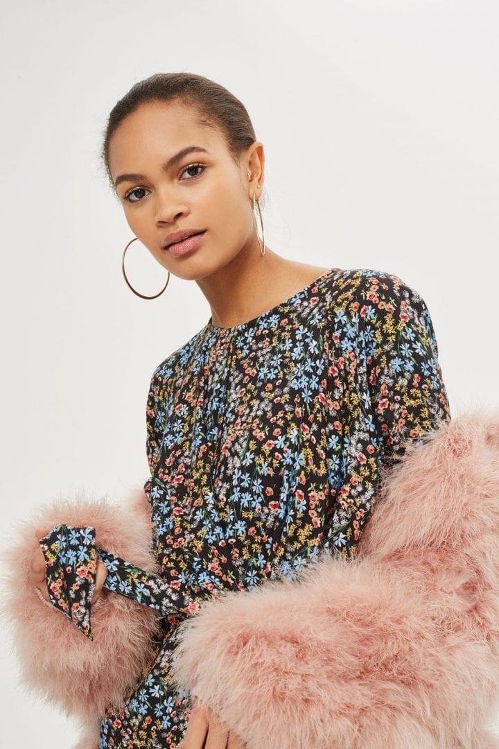 da70d5c1b2 TOPSHOP Floral Knot Front Mini Multi Dress - We Select Dresses