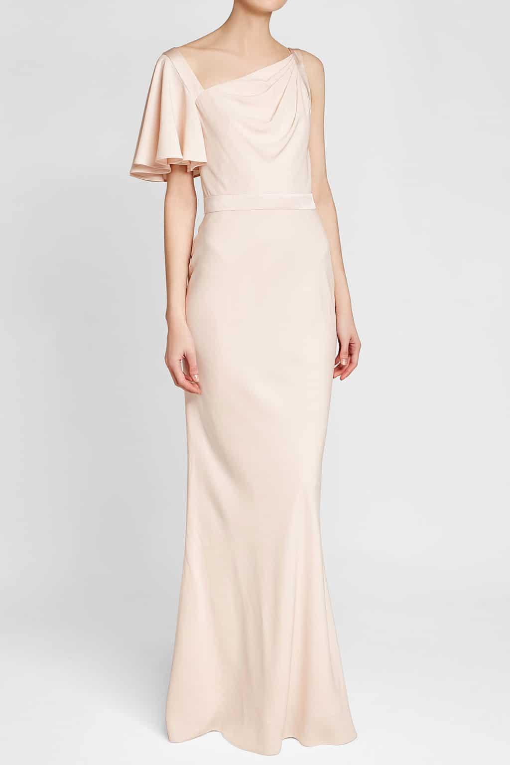 ALEXANDER MCQUEEN Crepe Evening Pink Gown