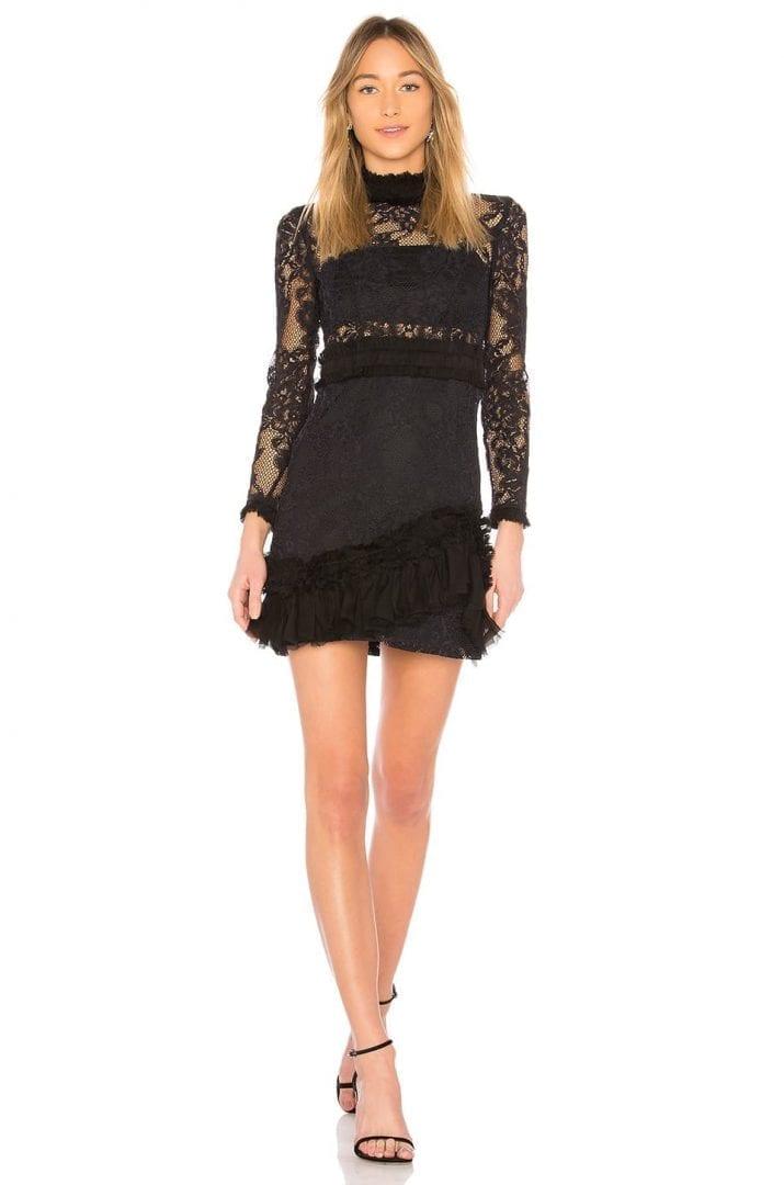 ALEXIS Wilhemina Mini Black Dress