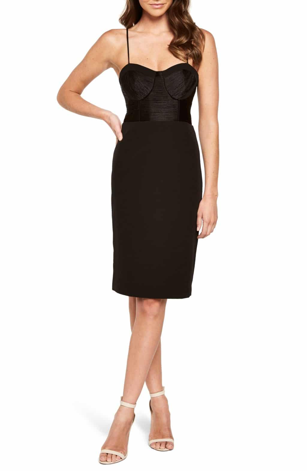 BARDOT Freida Fringe Sheath Black Dress