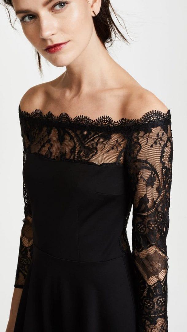 Bb Dakota Dennett Lace Off The Shoulder Black Dress We
