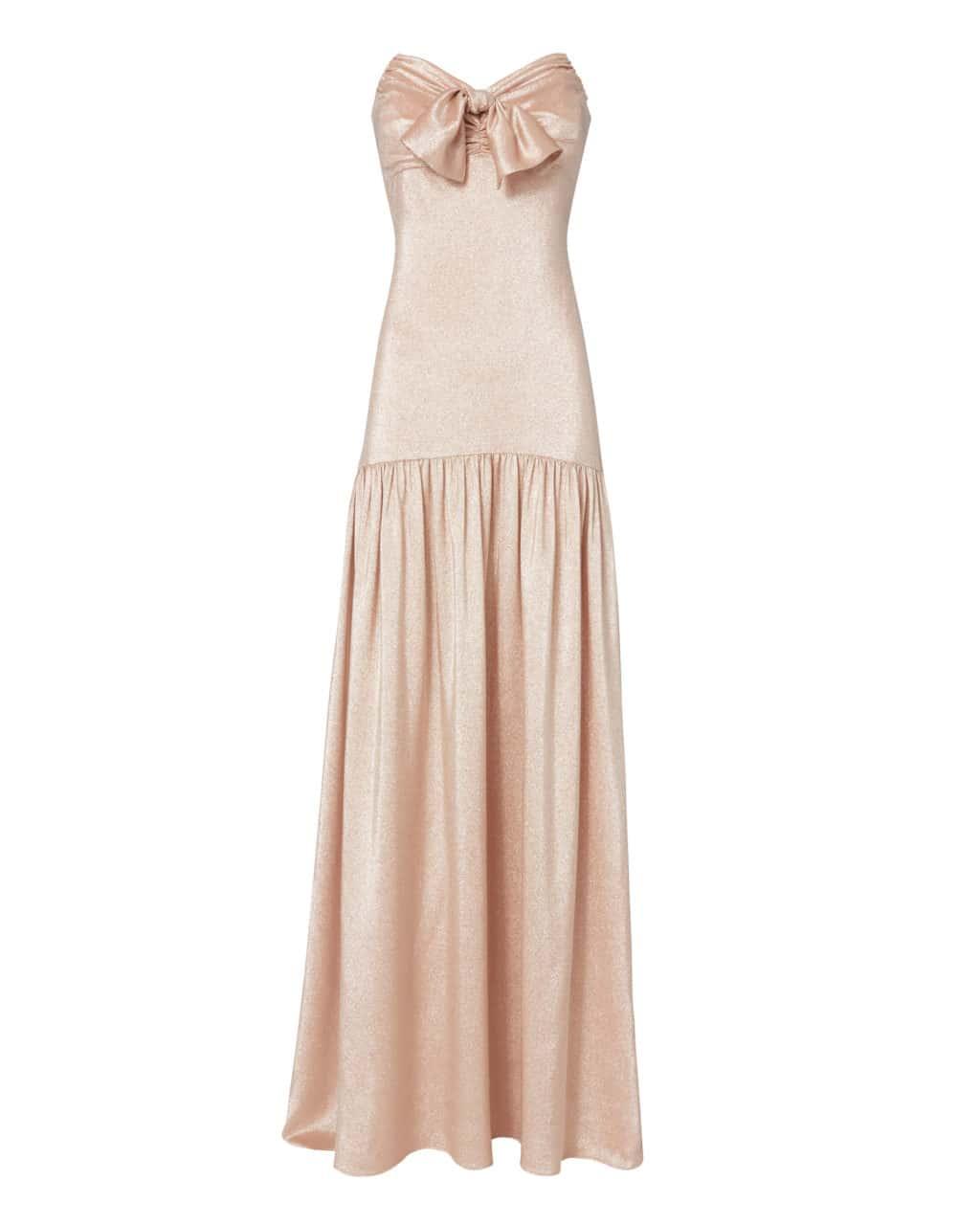 CAROLINE CONSTAS Strapless Bustier Metallic Dress - We Select Dresses