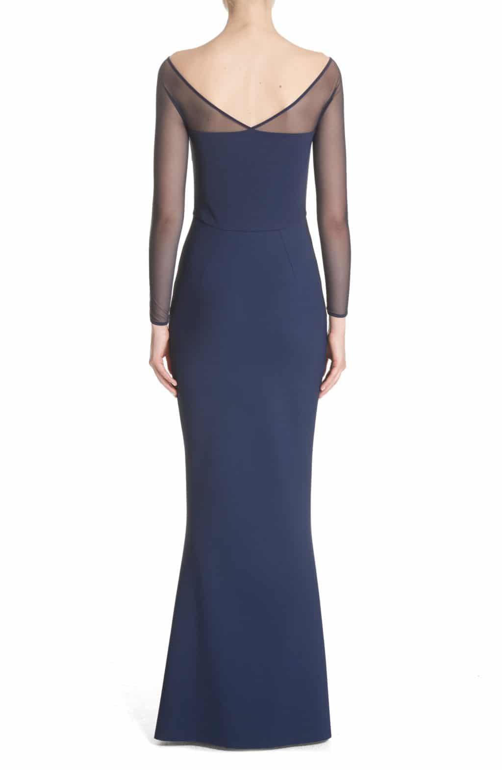 Chiara Boni La Petite Robe Saori Mesh Panel Mermaid Blue