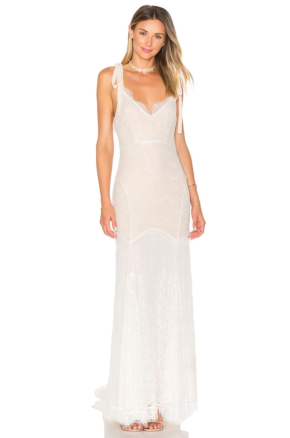 56edebe1a3f DAUGHTERS OF SIMONE X Revolve Olie White Gown - We Select Dresses