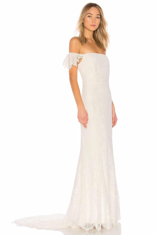 DAUGHTERS OF SIMONE X Revolve Rori White Gown