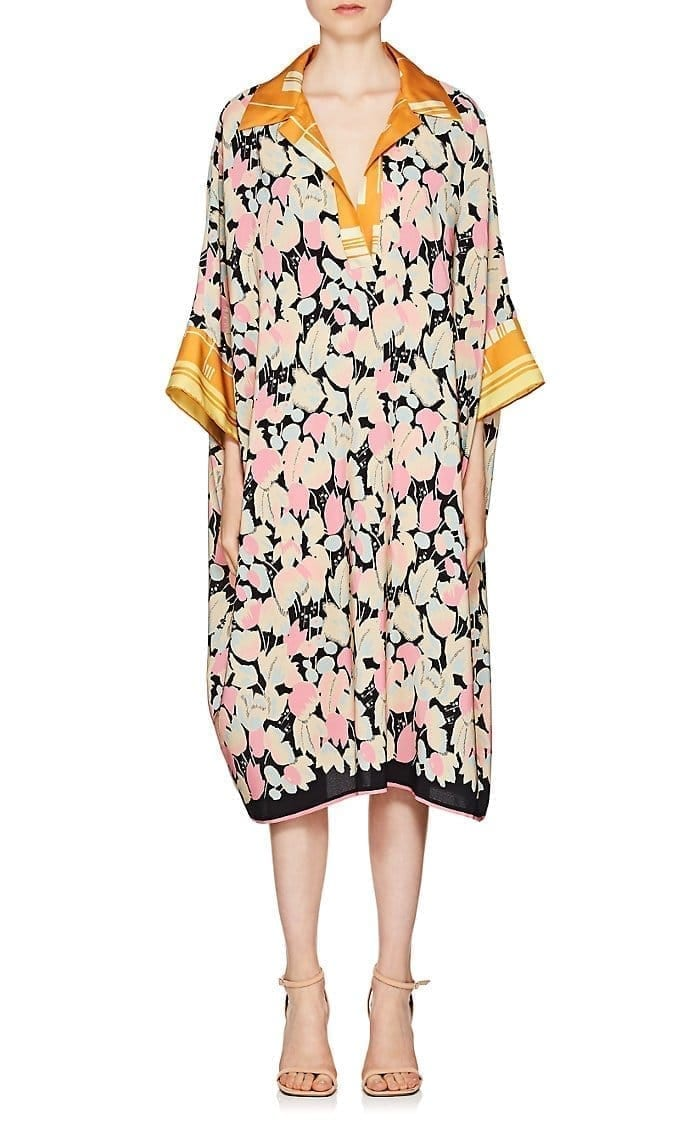 Dries Van Noten Daze Silk Crêpe De Chine Flprinted Shirtdress