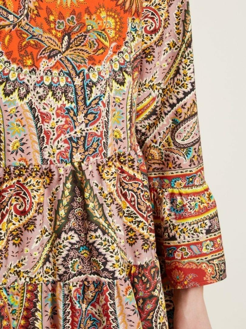 Etro Sagittario Floraand Paisley Print Cotton Multicoloured Dress