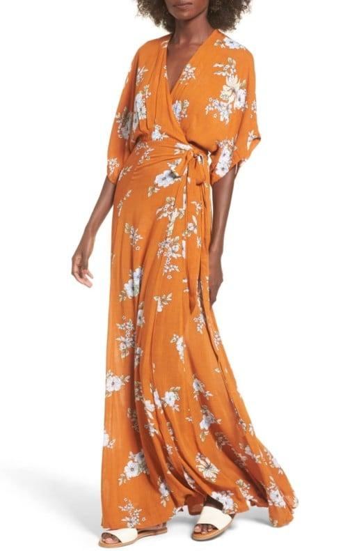 FAITHFULL THE BRAND Bergamo Floral Wrap Maxi Chelsea / Floral Print Dress