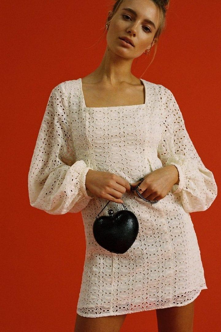 FREEPEOPLE Lovey Dovey Mini Canvas Dress