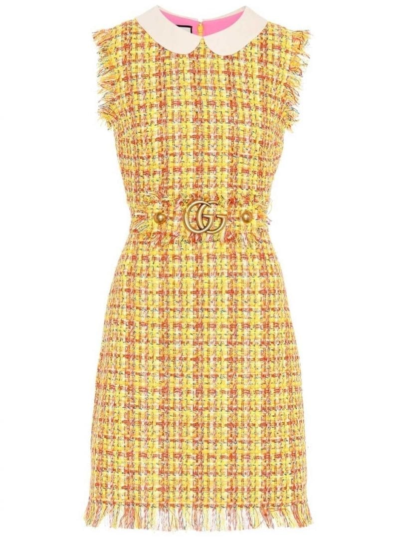 db97e0ab2c6 GUCCI Frayed Tweed Mini Multicolored Dress - We Select Dresses