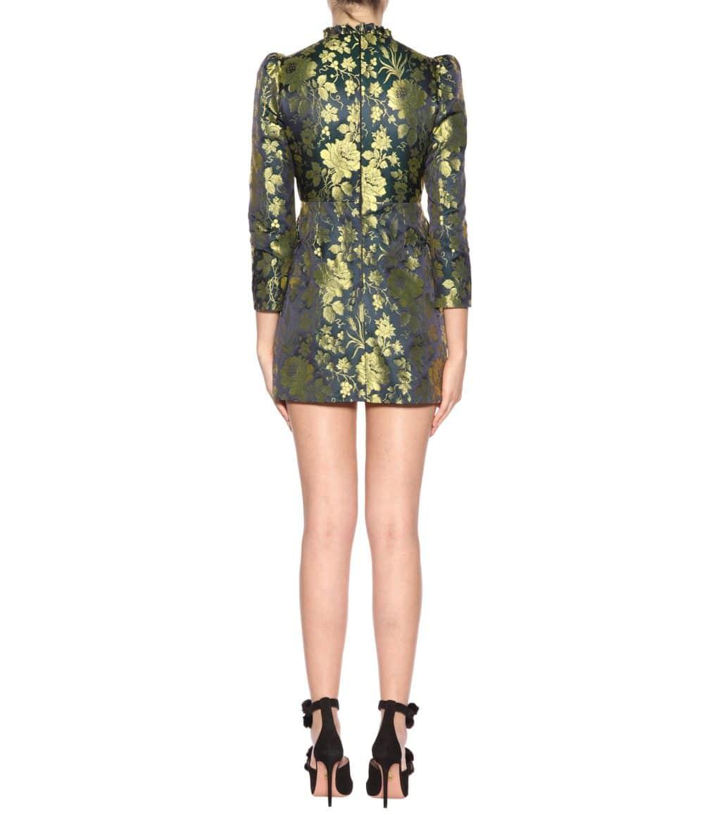 Gucci Jacquard Cotton Blend Green Dress