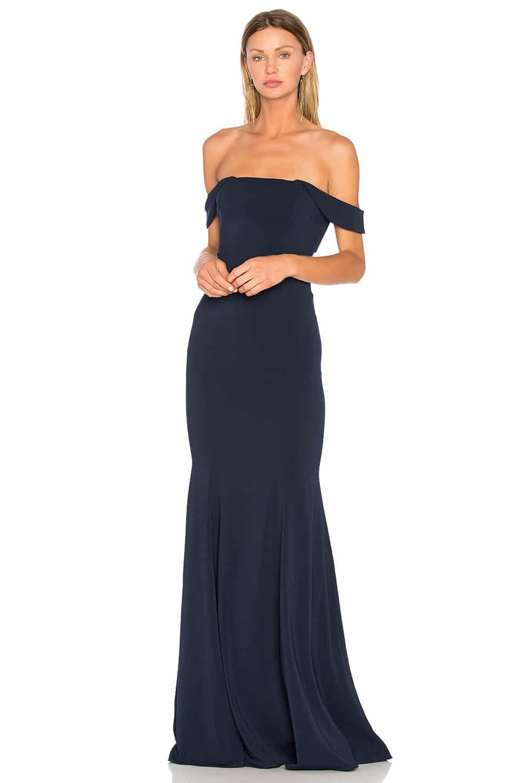 JAY GODFREY Biles Navy Gown