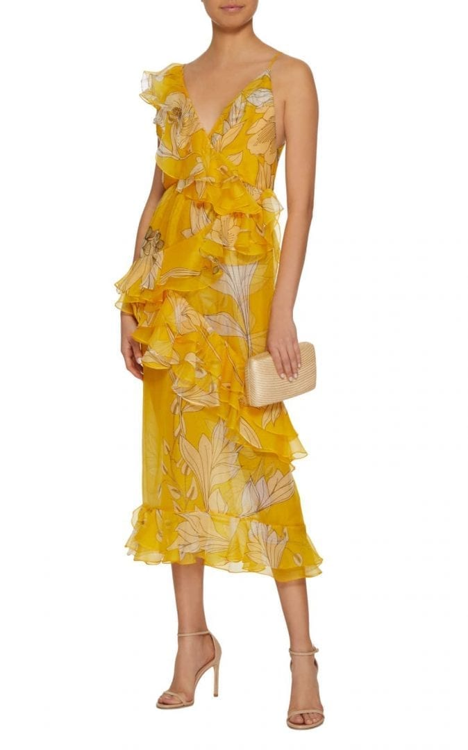 JOHANNA ORTIZ Sunlight Silk Organza Sunny yellow Dress