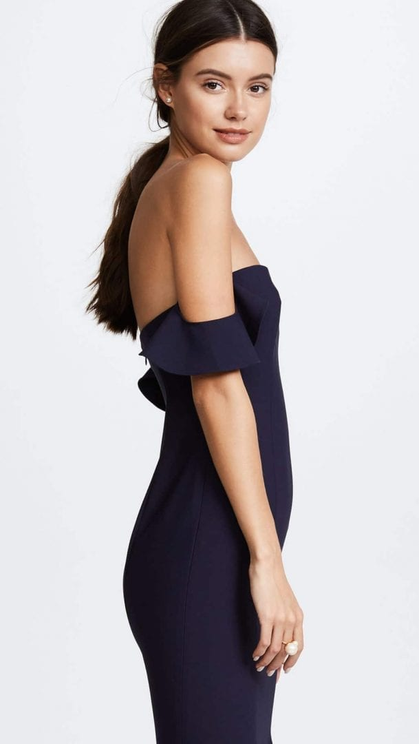 777103990886 LIKELY Sunset Navy Blue Gown - We Select Dresses