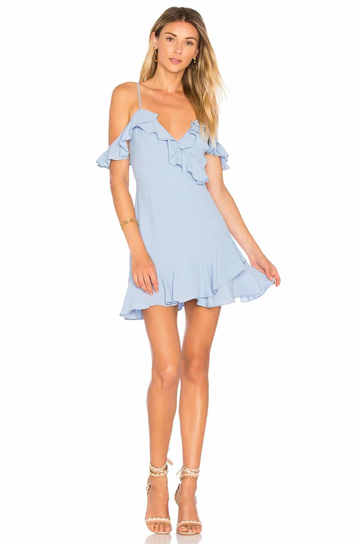 MAJORELLE Salsa Baby Blue Dress