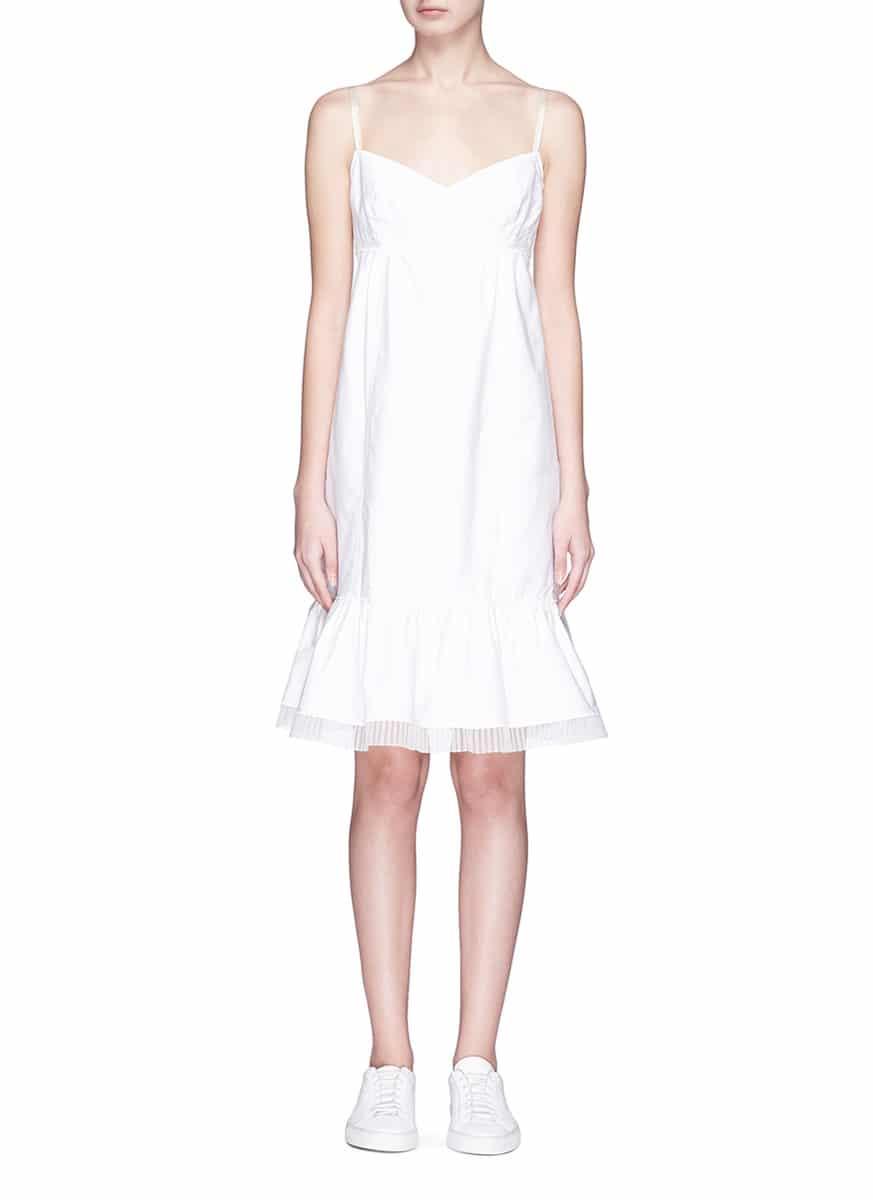 Marc Jacobs Ruffle Hem Oxford White Dress
