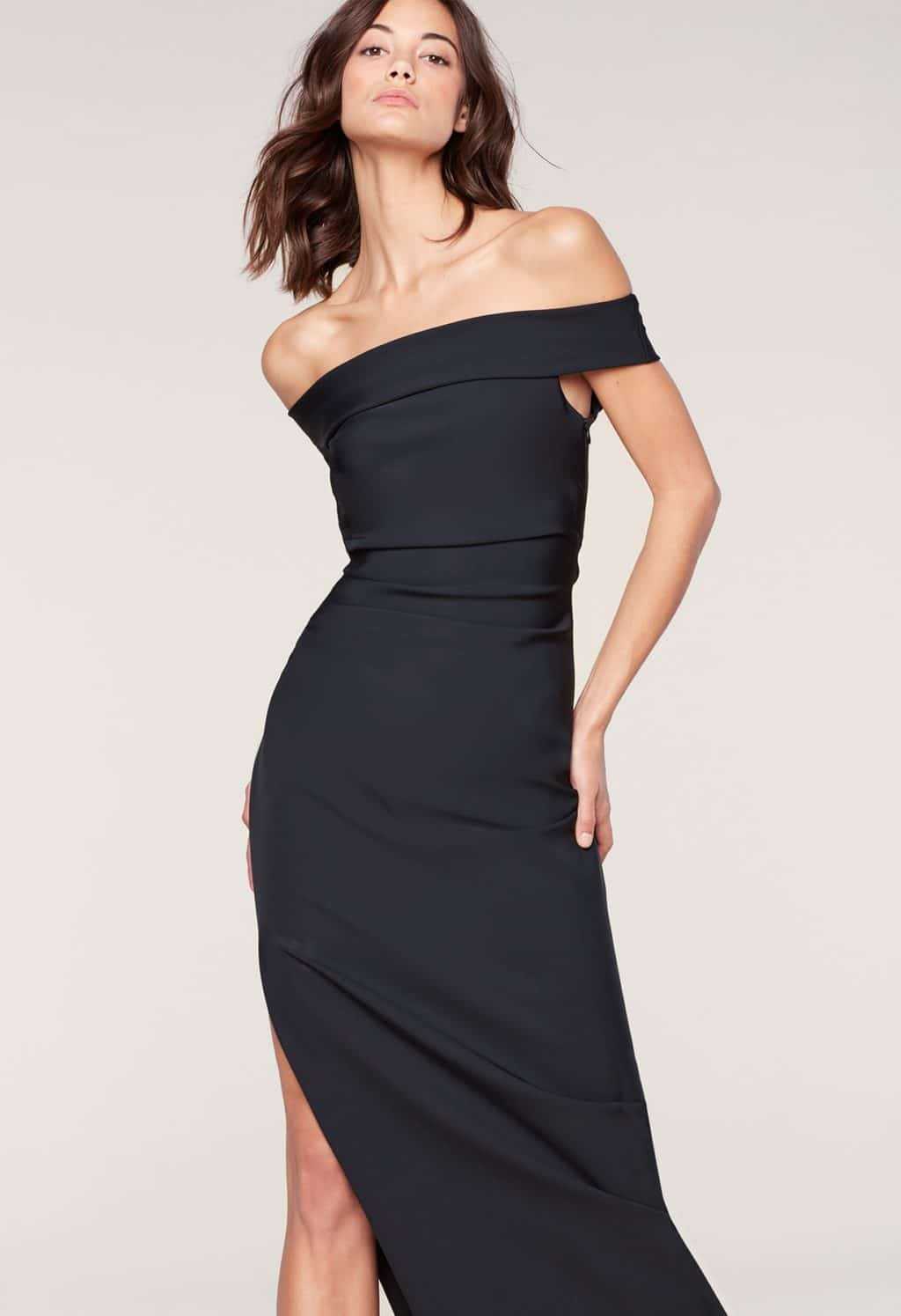 MILLY Ally Black Gown - We Select Dresses