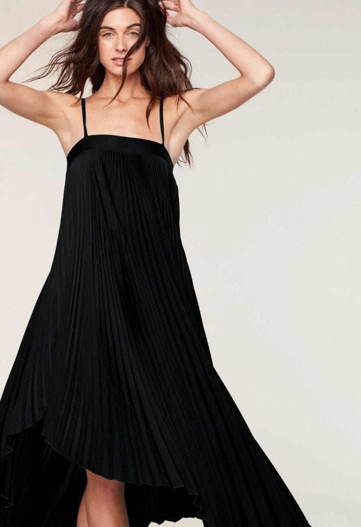 MILLY Stretch Silk Irene Black Dress - We Select Dresses