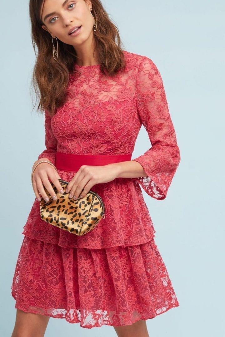 64a7acc9ab5 ML MONIQUE LHUILLIER ML Monique Lhuillier Embellished Rose Dress ...