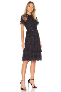 NEEDLE & THREAD Constellation Lace Dust Midnight / Black Dress