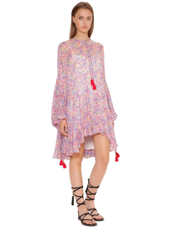 PHILOSOPHY DI LORENZO SERAFINI Flared Georgette Multicolor / FloralPrinted Dress