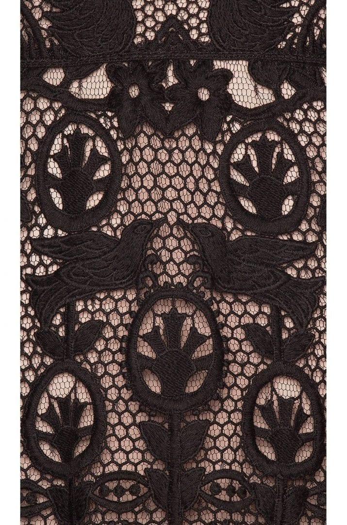 3efd964f92f RED VALENTINO Lace Fit   Flare Mini Black Dress - We Select Dresses