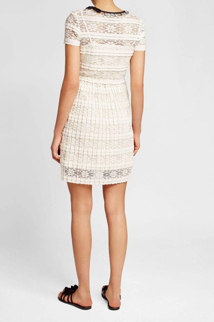 42cfc4834fb RED VALENTINO Lace Fit   Flare Mini Black Dress - We Select Dresses RED  VALENTINO Lace Pleats White Dress - We Select Dresses