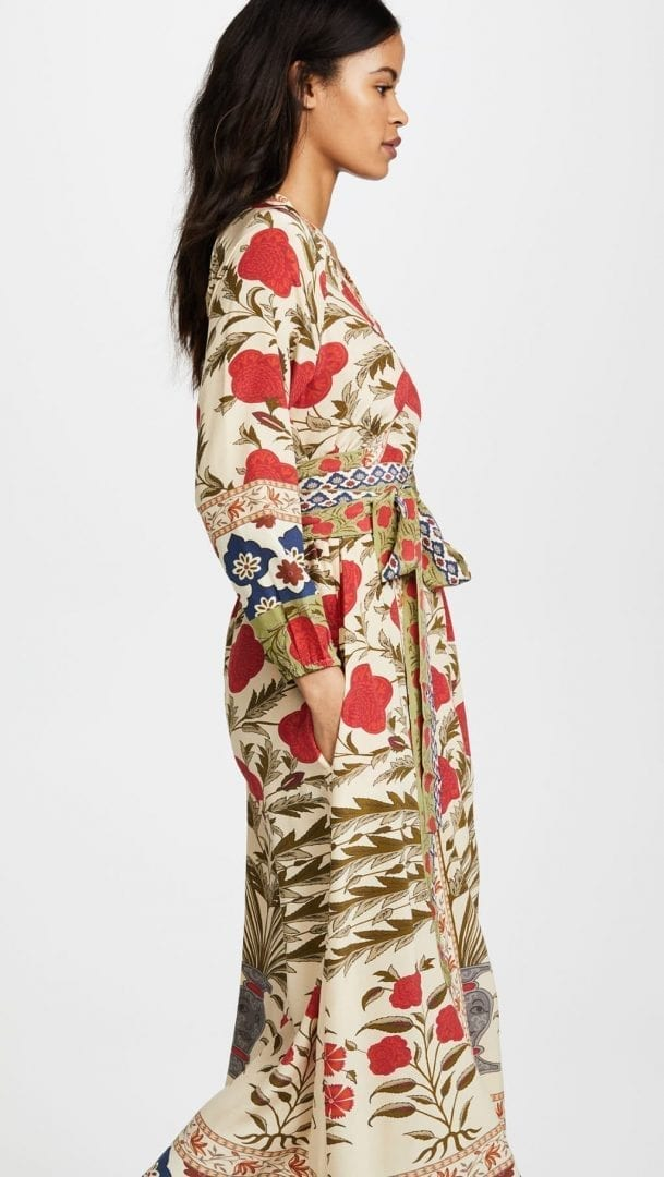 c316c897e545 RHODE RESORT Jagger Wrap Red Flower Dress - We Select Dresses