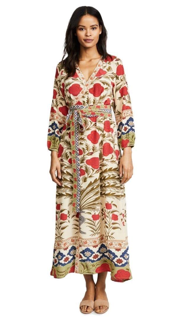 Rhode Resort Jagger Wrap Red Flower Dress We Select Dresses