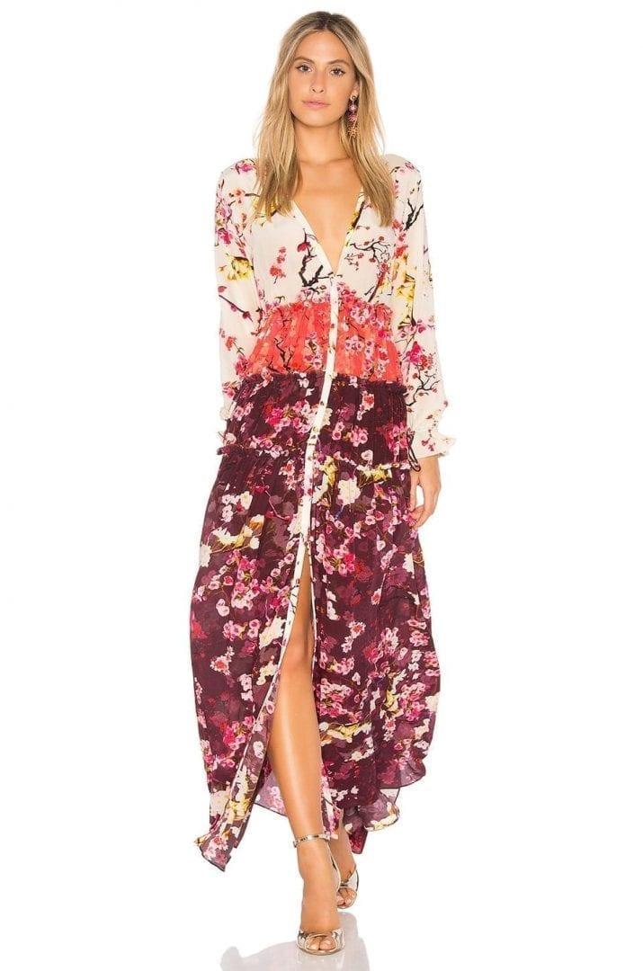 ROCOCO SAND Floral Maxi Multicolored Dress