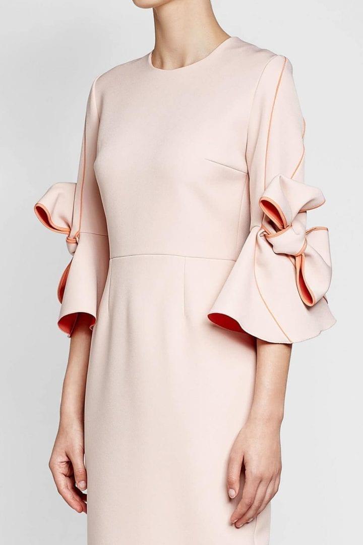 Roksanda Bow Sleeves With Sheath Pink Dress We Select