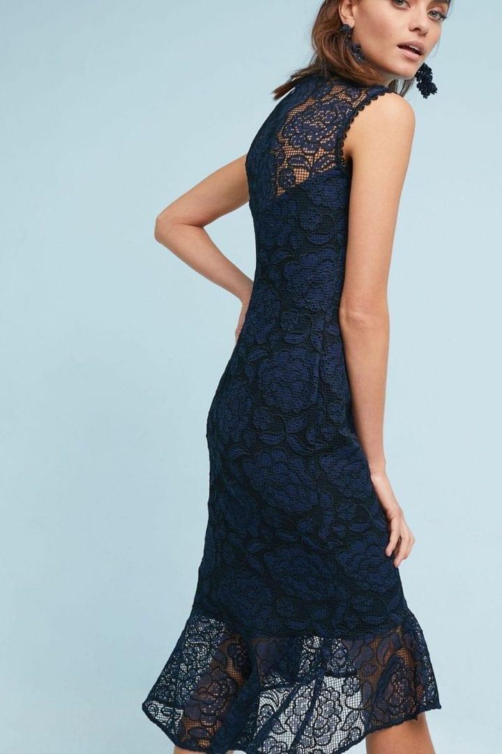 1b429cb432a3 SHOSHANNA Reika Trumpet Navy Dress - We Select Dresses