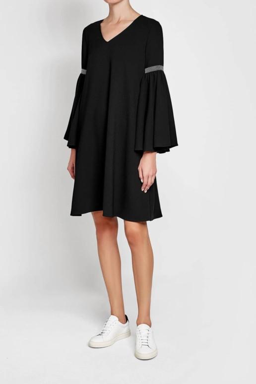 STEFFEN SCHRAUT Embellishment Crepe Black Dress
