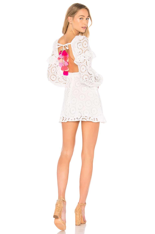 d0b98bf4e59 SUNDRESS Margherita White   Multicolored Dress - We Select Dresses