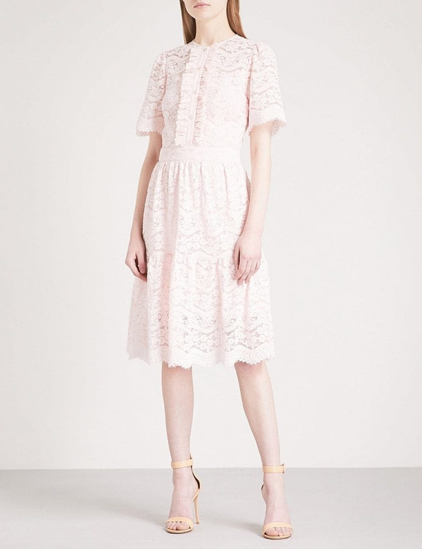 Temperley London Lunar Fit And Flare Lace Shell Dress