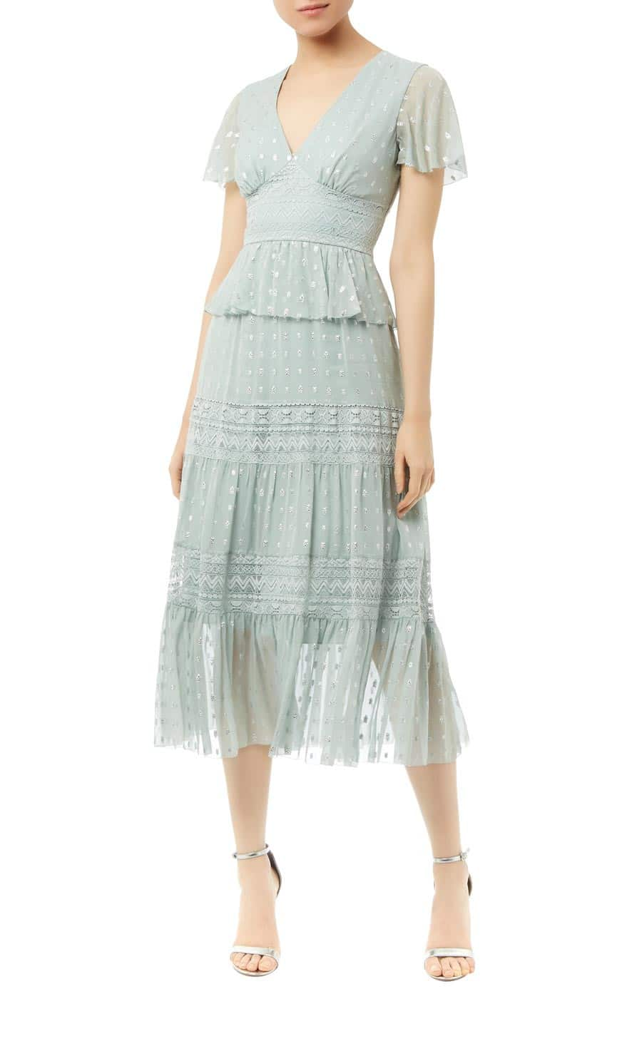 Temperleylondon Wondering Lace Green Dress