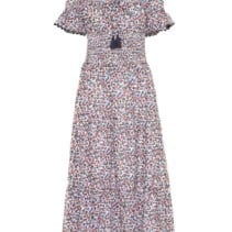 f5d1af8e982c TORY BURCH Wildflower Smocked Cotton Multicolored Dress - We Select ...