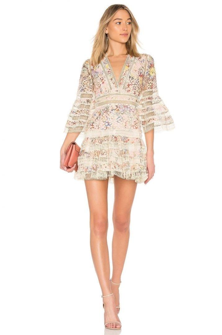 ZIMMERMANN Lovelorn Floral Flutter Pink / Floral Dress