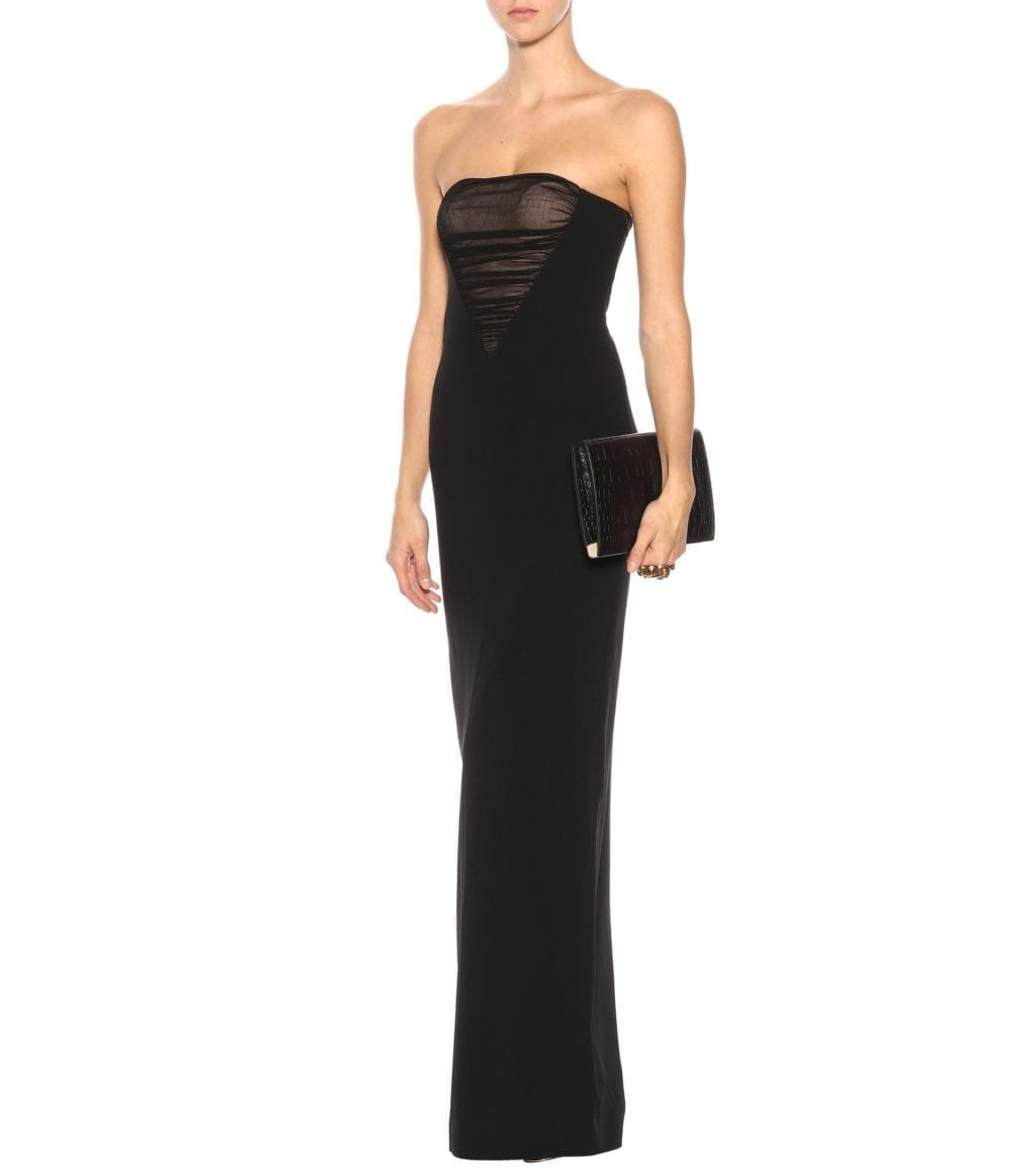 ALEXANDER WANG Strapless Crêpe Black Gown - We Select Dresses