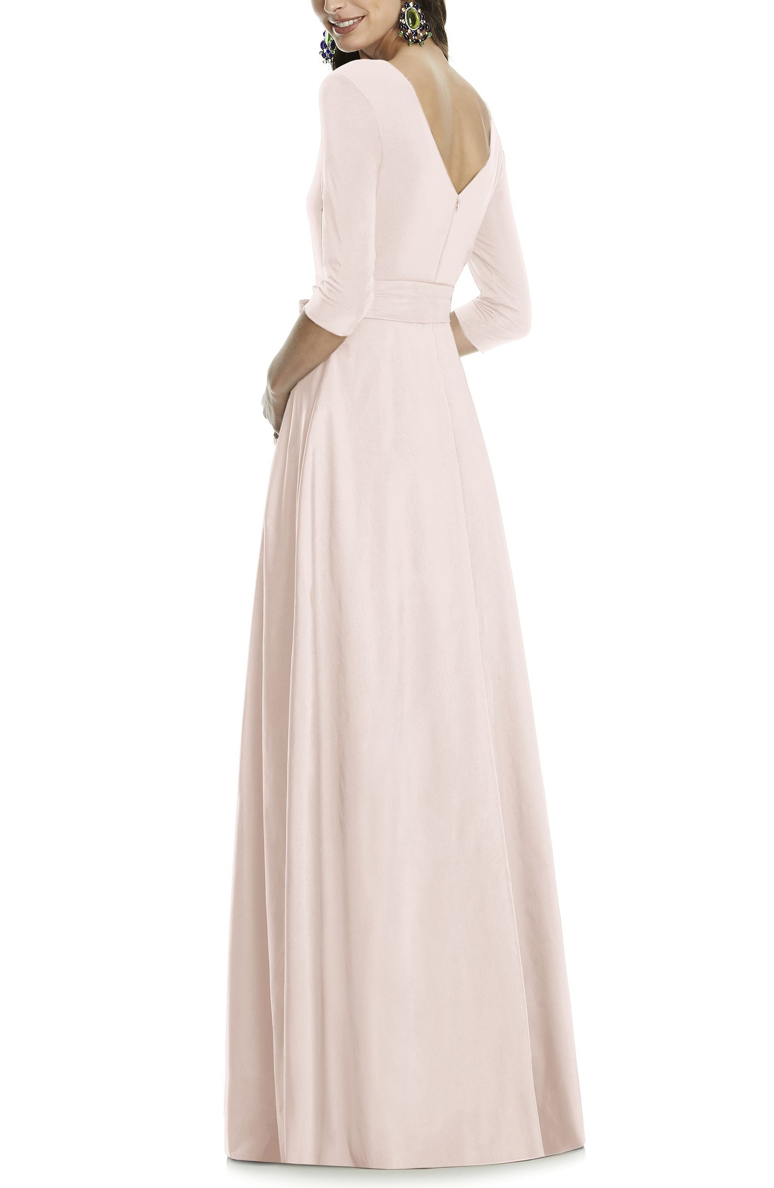 ALFRED SUNG Jersey Bodice A-Line Blush Gown - We Select Dresses