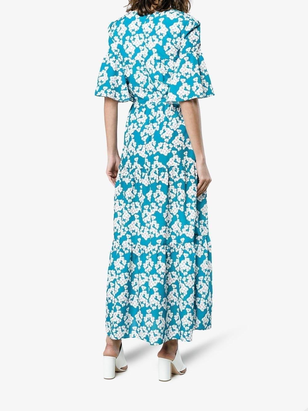 borgo de nor dora floral tier blue white dress we select dresses