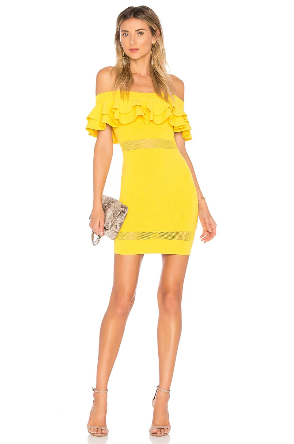 BY THE WAY. Emilie Tiered Knit Yellow Dress - We Select Dresses
