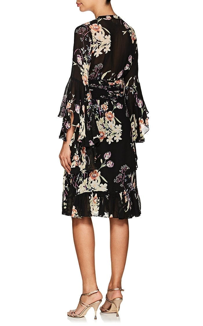 b2ea5957 BYTIMO Floral Crepe Bell Sleeve Black / Multicolored Dress - We ...
