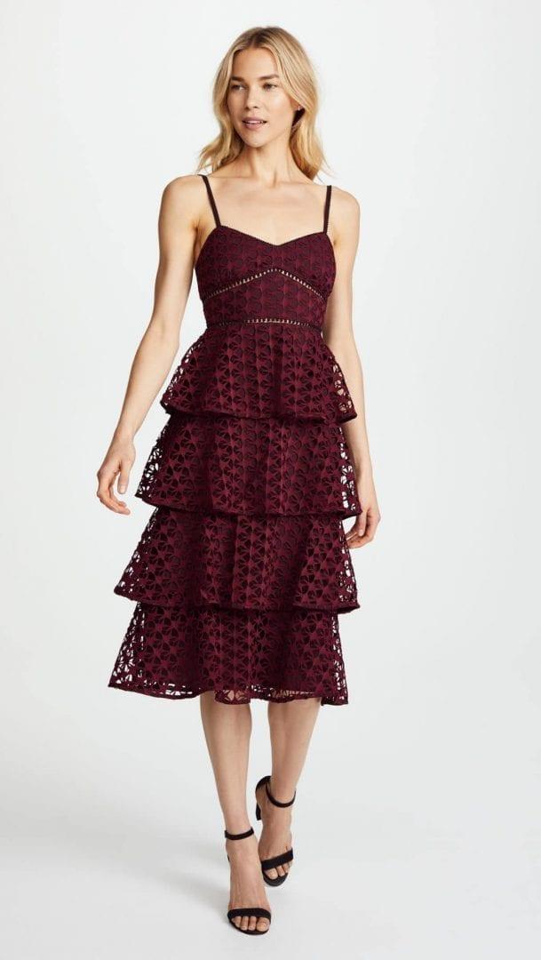 CLUB MONACO Becaw Pomegranate Burgundy Dress - We Select Dresses