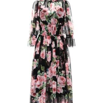Dolce Gabbana Silk Floral Printed Dress We Select Dresses