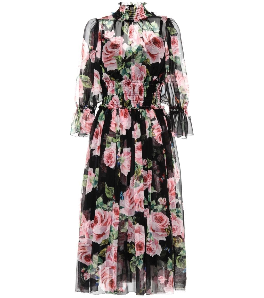 Dolce Gabbana Silk Floral Printed Dress We Select Dresses