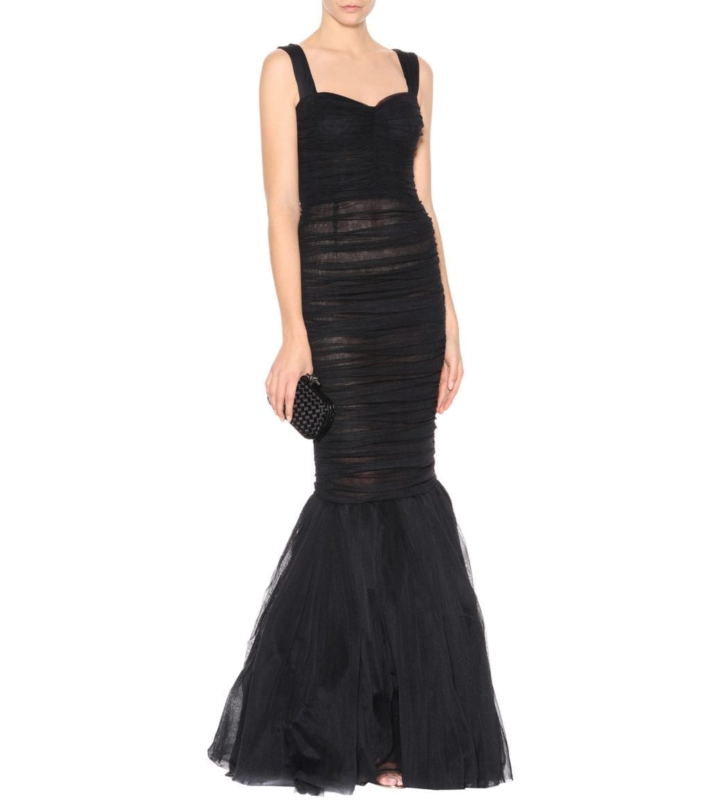 DOLCE & GABBANA Tulle Black Gown