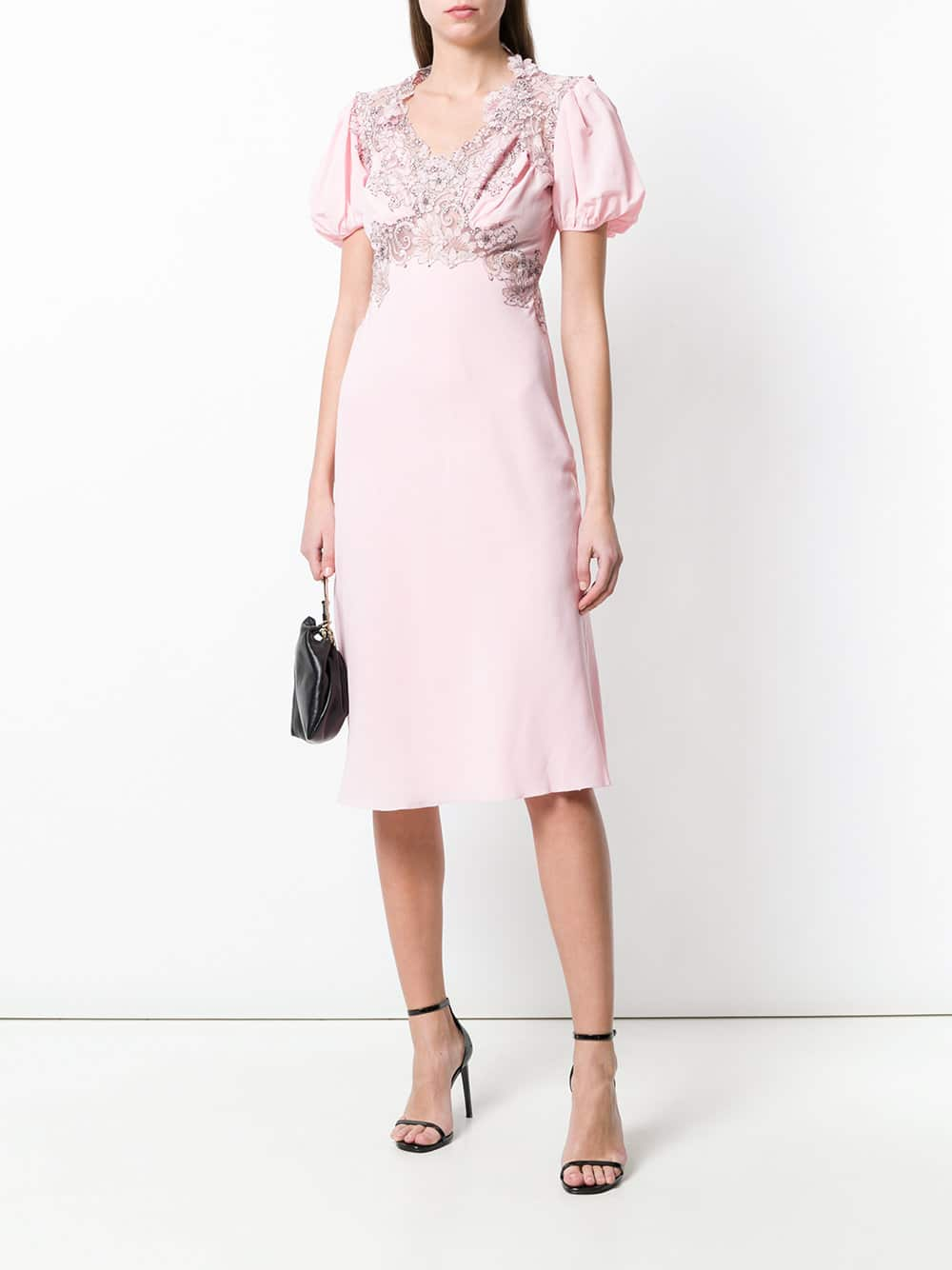 6069d1a5f2 ERMANNO SCERVINO Embroidered Retro Pink Dress - We Select Dresses